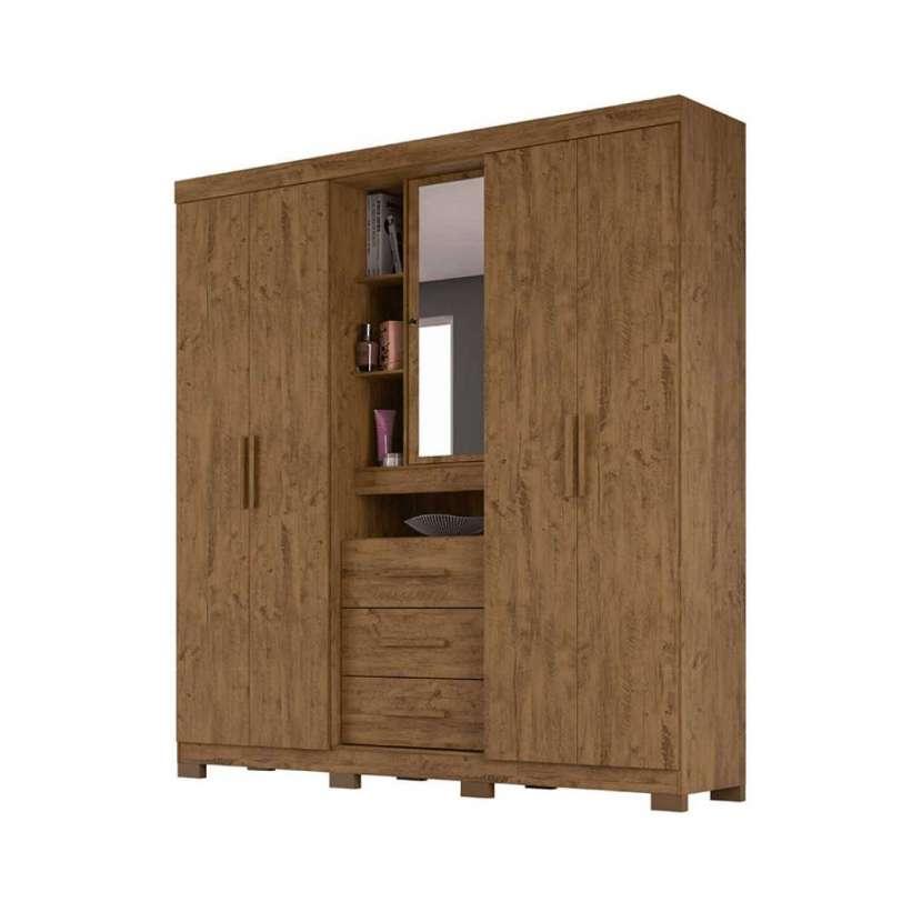 Ropero Eldorado 5 puertas Moval castaño wood 30158 - 2