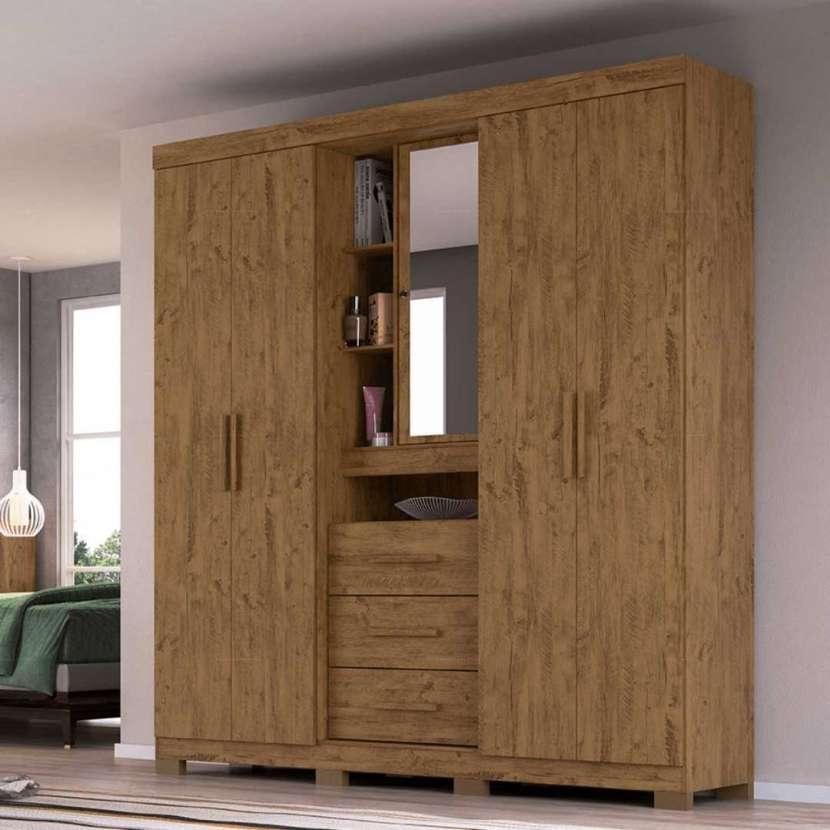 Ropero Eldorado 5 puertas Moval castaño wood 30158 - 0