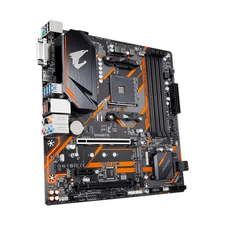 Motherboard Gigabyte AM4 B450M Aorus elite S/R/HDMI/DVI/2M2/DD4/MATX/ - 0