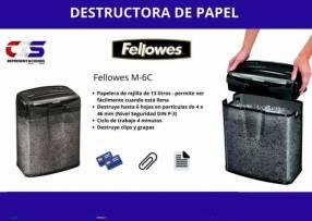 Destructora de papel FELLOWES M6C