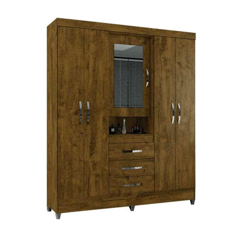 Ropero 5 puertas Perú con espejo Moval castaño wood 30166 - 2