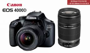 Canon EOS 4000D Kit 18-55mm + 55-250mm combo
