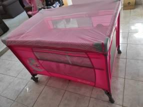 Cuna corralito Ebaby rosa 639