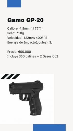 Pistola Gamo GP 20 de aire comprimido