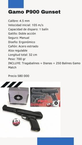 Pistola Gamo de aire comprimido