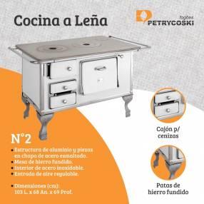 Cocina a leña n° 2 Petrycoski 1395