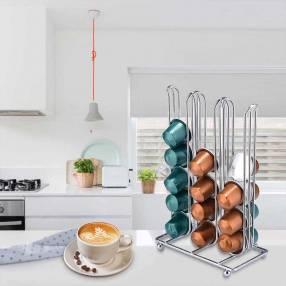 Porta cápsulas Nespresso plateado 15x9x22cm