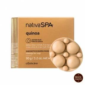 Oboticario Nativa Spa jabón en barra masajeador Quinoa 90 gramos