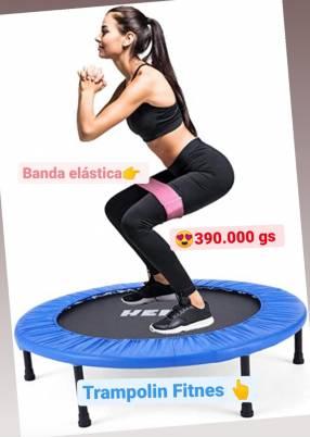 Trampolín fitness + banda elástica