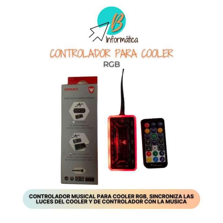 Controlador de cooler rgb Sate con sensor musical ACB-4 - 0