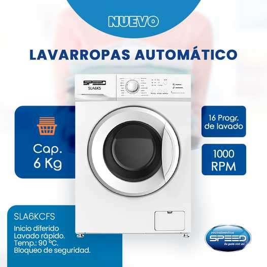 Lavarropas automático Speed 6 kilos - 0