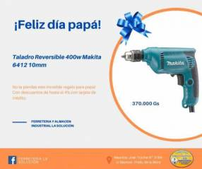 Taladro reversible 400w Makita 6412 10mm