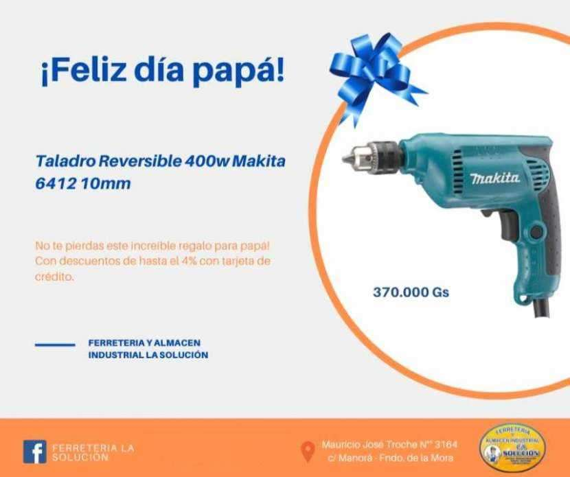 Taladro reversible 400w Makita 6412 10mm - 0