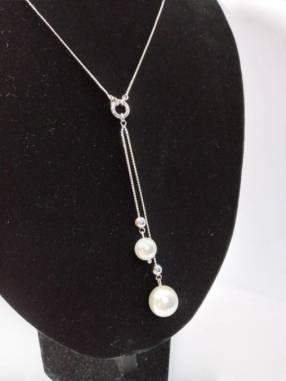 Gargantilla de plata 925 y perlas