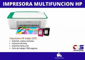 Impresora multifuncion HP 2375 con cartuchos de tinta