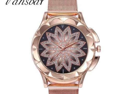 Reloj malla ajustable fondo flor - 0