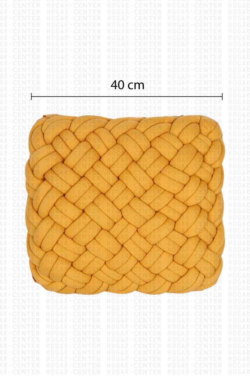 Almohada nudo amarillo 40x40cm - 2