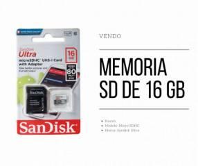 Tarjeta de memoria SanDisk Ultra de 16 gb