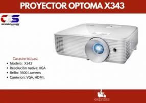 Proyector Optoma X343 3600L XGA 3D/HDMI/VGA/USB