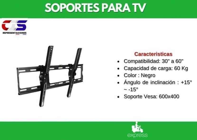Soporte p/ TV Klip Xtreme 30 a 60 pulgadas inclinable de pared - 0
