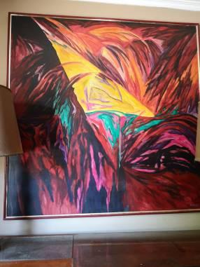 Pintura al acrílico 150x150cm