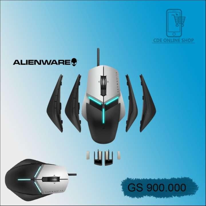 Mouse Dell AW958-BK Alienware Elite gaming plata negro - 0