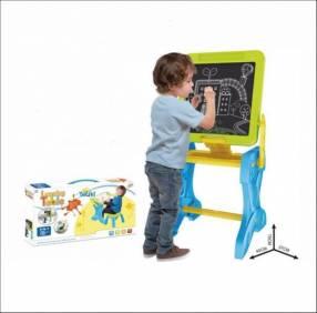 Pizarra escritorio 2 en 1 Tatiki azul para niños