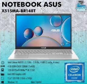 Notebook Asus X515MA-BR148T Celeron-N4020 4gb SSD 128gb 15,6 pulgadas