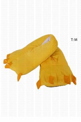 Pantuflas tipo pezuñas amarillo 26cm