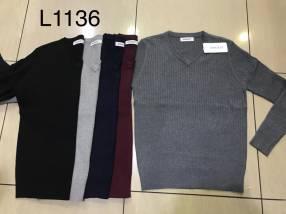 Suéter liso para caballero SINGKEIL1136