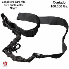 Bandolera para rifle de 1 punta color negro
