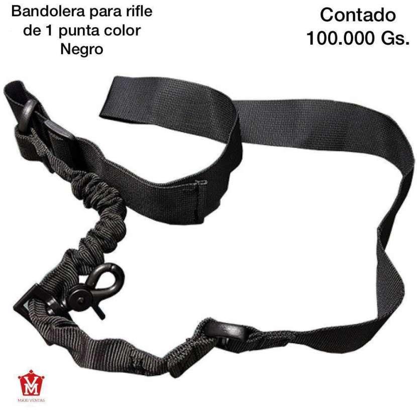 Bandolera para rifle de 1 punta color negro - 0