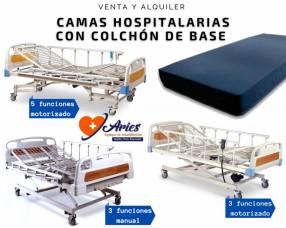 Camas hospitalarias para venta y alquiler