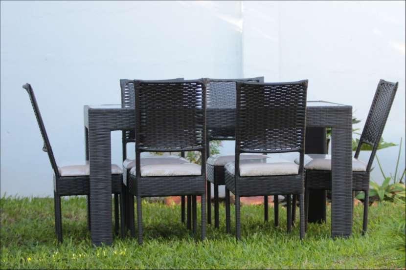 Comedor de rattán modelo Yegros 6 sillas - 1