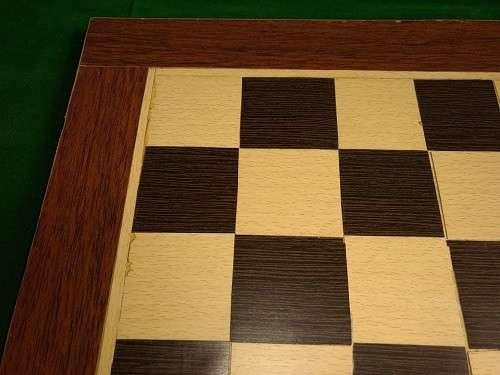 Tablero artesanal de ajedrez de madera 50x50 cm - 3