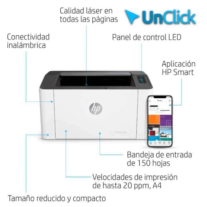 Impresora láser HP M107W - 0