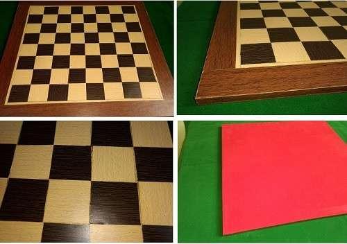 Tablero artesanal de ajedrez de madera 50x50 cm - 0
