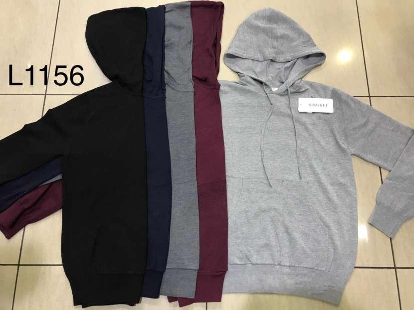 Suéter para caballero con capucha y bolsillo SINGKEIL1156 - 0