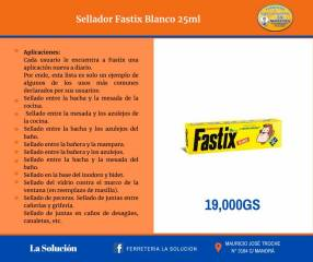 Sellador Fastix blanco 25ml