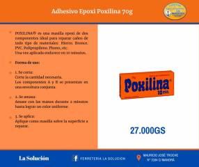 Adhesivo Epoxi Poxilina 70 gramos