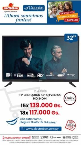 TV LED Quick de 32 pulgadas