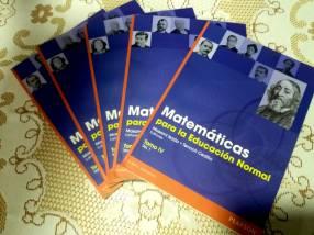 Libros de matematicas para la educacion normal.