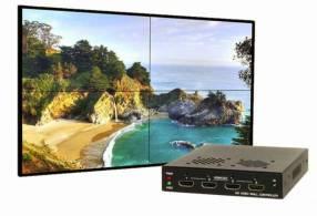 Video wall 2x2 divisor de imagen en 4 partes diferentes