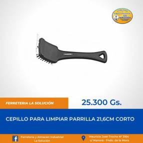Cepillo corto para limpiar parrilla 21.6cm