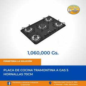 Placa de cocina a gas 5 hornallas Tramontina 70cm