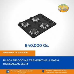 Placa de cocina a gas 4 hornallas Tramontina 55cm