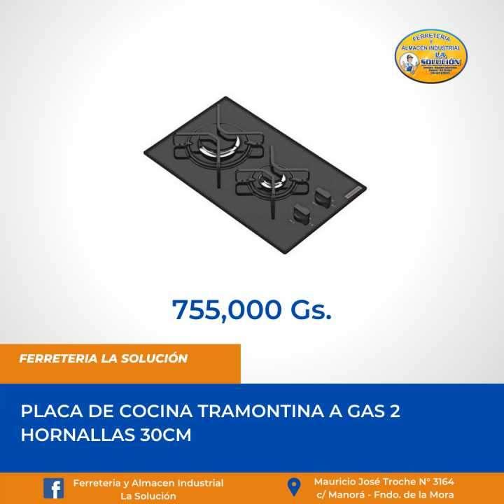 Placa de cocina a gas 2 hornallas Tramontina 30cm - 0