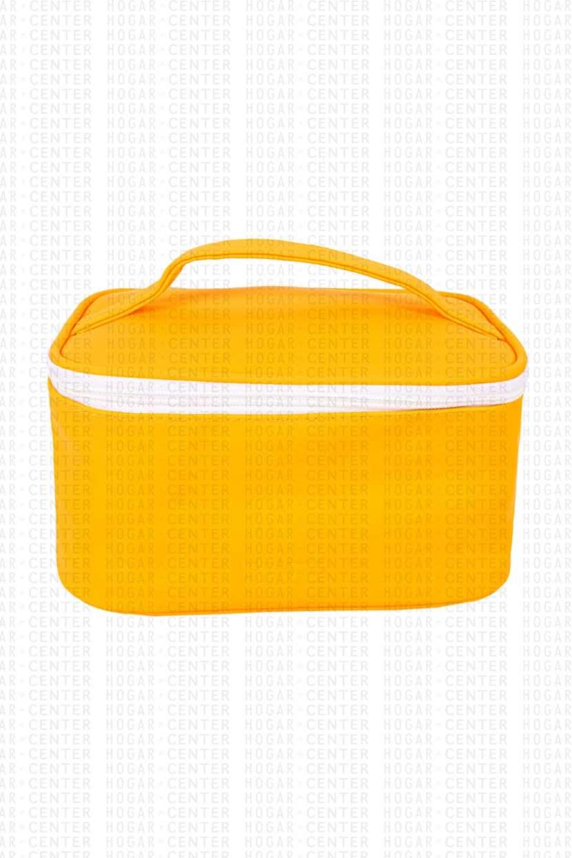 Neceser femenino amarillo 22x14x12cm - 1