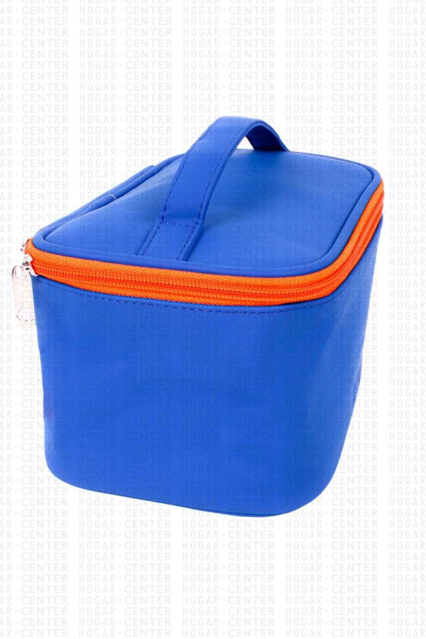 Neceser femenino azul 22x14x12cm - 0