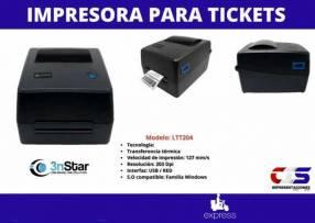 Impresora para ticket 3NSTAR etiqueta transferencia térmica